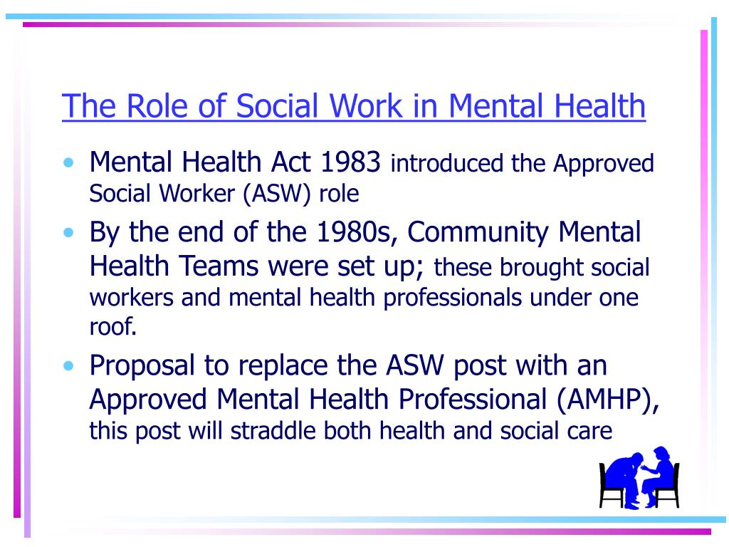 The Role of Social Work in Mental Health