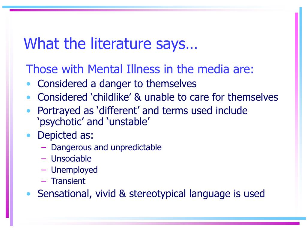 What the literature says…