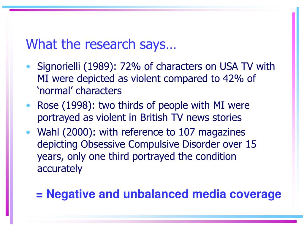 What the research says…
