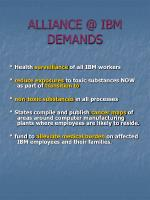alliance @ ibm demands