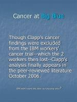 cancer at big blue