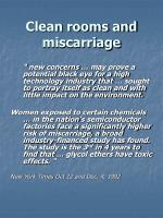 clean rooms and miscarriage