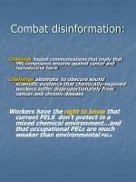 combat disinformation