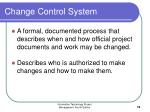 change control system