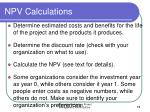 npv calculations