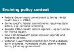 evolving policy context