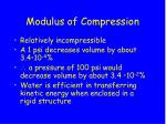 modulus of compression