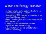 water and energy transfer