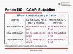 fondo bid cgap subsidios