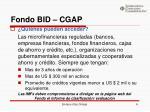 fondo bid cgap3
