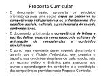 proposta curricular