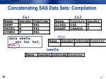 concatenating sas data sets compilation5