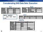 concatenating sas data sets execution12