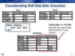 concatenating sas data sets execution15