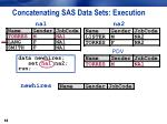 concatenating sas data sets execution2