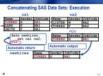 concatenating sas data sets execution3