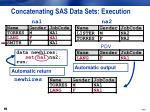 concatenating sas data sets execution4
