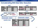 concatenating sas data sets execution8