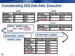 concatenating sas data sets execution9
