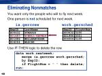 eliminating nonmatches