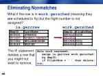 eliminating nonmatches1