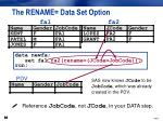 the rename data set option5