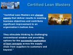 certified lean masters