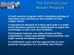 the certified lean master program