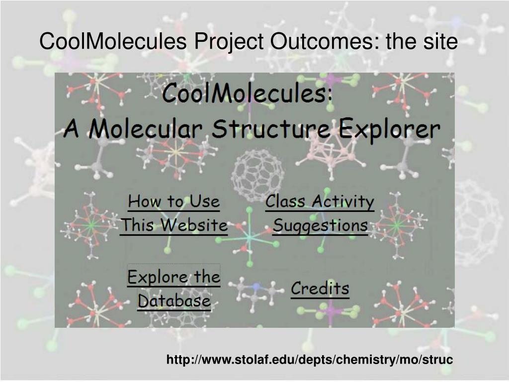 CoolMolecules Project Outcomes: the site