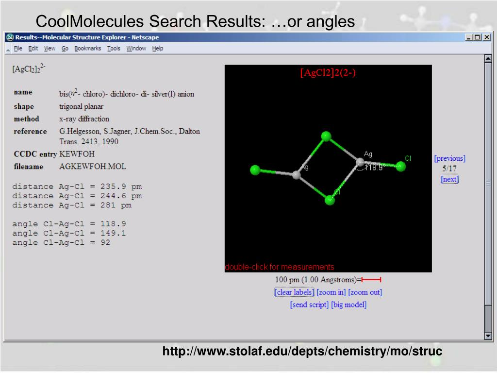 CoolMolecules Search Results: …or angles