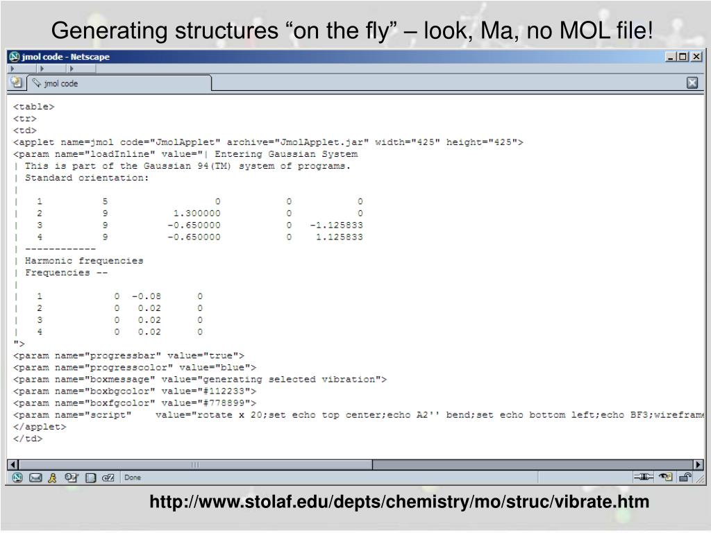"Generating structures ""on the fly"" – look, Ma, no MOL file!"