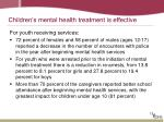 children s mental health treatment is effective