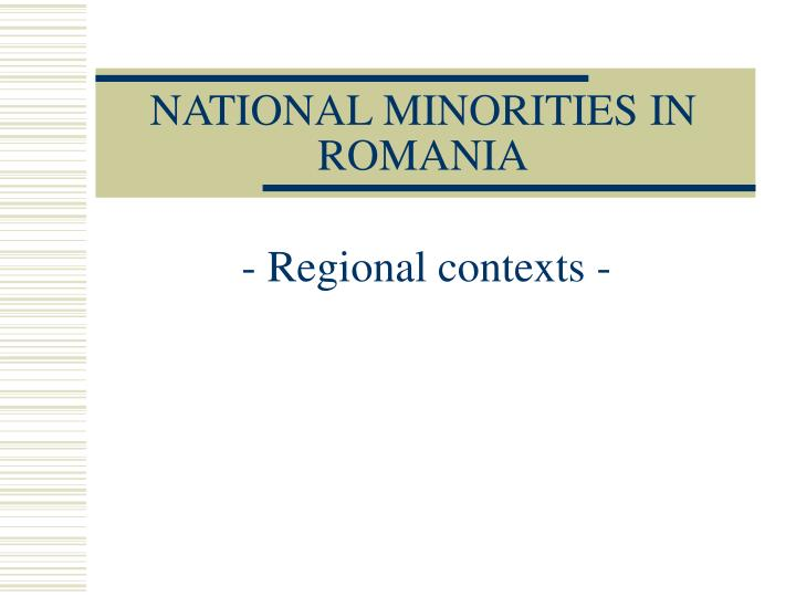 national minorities in romania n.