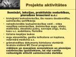 projektu aktivit tes
