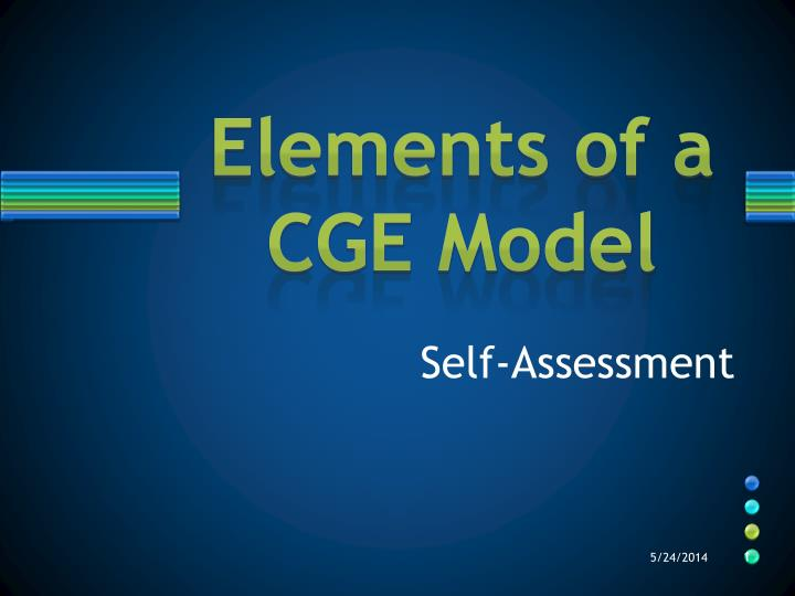 elements of a cge model n.