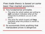 free trade theory is based on some basic free market economics