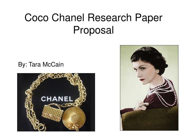 coco chanel research paper proposal n.