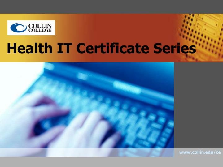 health it certificate series n.