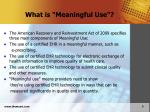 what is meaningful use