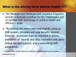 what is the driving force behind health it