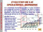 evolucion de las operaciones depositos