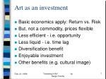 art as an investment