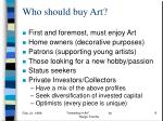 who should buy art