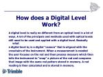 how does a digital level work