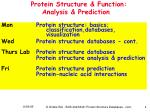 protein structure function analysis prediction