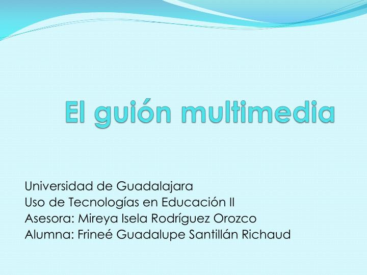 el gui n multimedia n.
