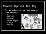 screen captures can help1