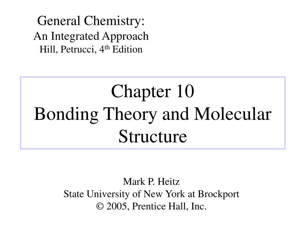 chapter 10 bonding theory and molecular structure l.