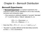 chapter 6 bernoulli distribution