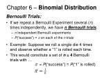 chapter 6 binomial distribution